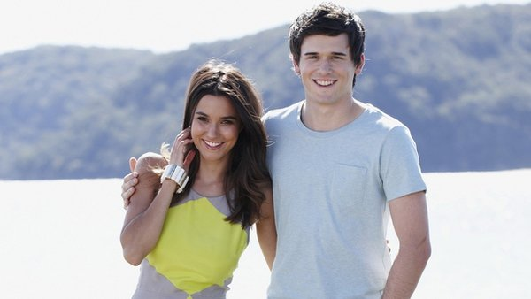Rihannon Fish and Charler Cottier departing Home and Away