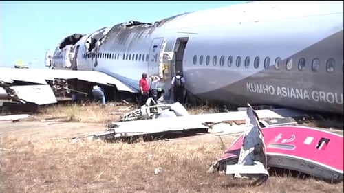 Ms Hersman also confirmed witness accounts that at least one emergency escape chute had deployed inside the aircraft, trapping a flight attendant