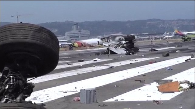 Debris from the crash is being examined