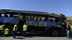 The accident occurred close to the town of Tornadizos in Avila province