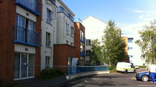 The apartment block at Thornfield Square is being treated as a crime scene