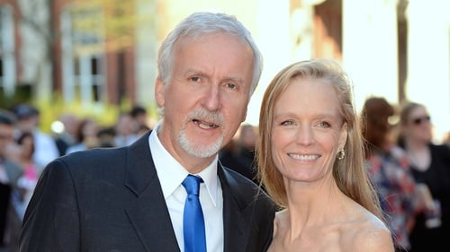 James Cameron with wife Suzy Amis