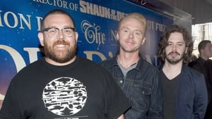 Frost, Pegg and Wright - Promoting their new film The World's End in Dublin