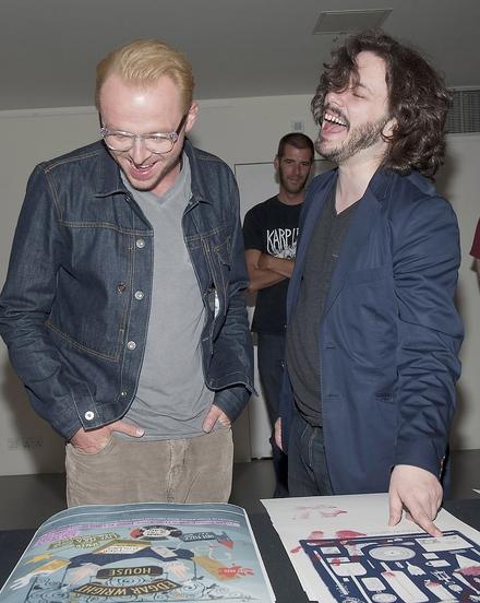 Simon Pegg and Edgar Wright