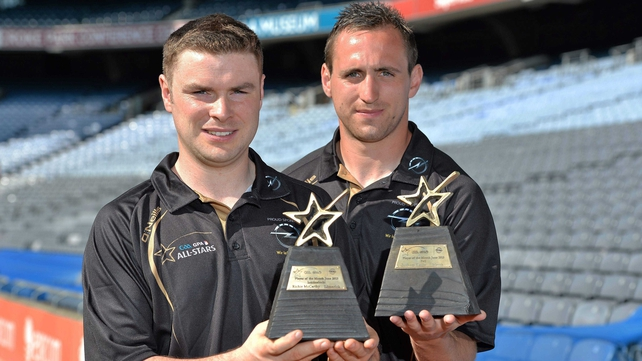 Richie McCarthy and Graham Reilly pictured with their awards at Croke Park
