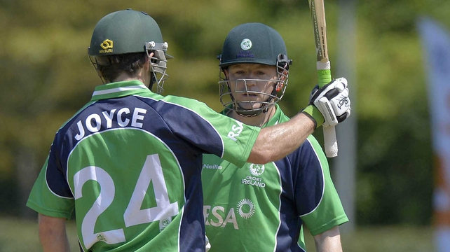 Ed Joyce was four runs short of his century in Amstelveen