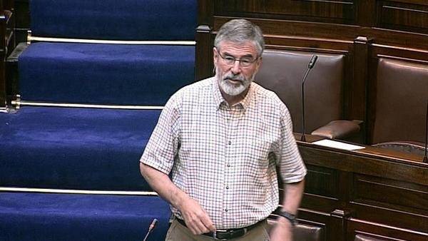Gerry Adams accused Micheál Martin of 'weasel words'