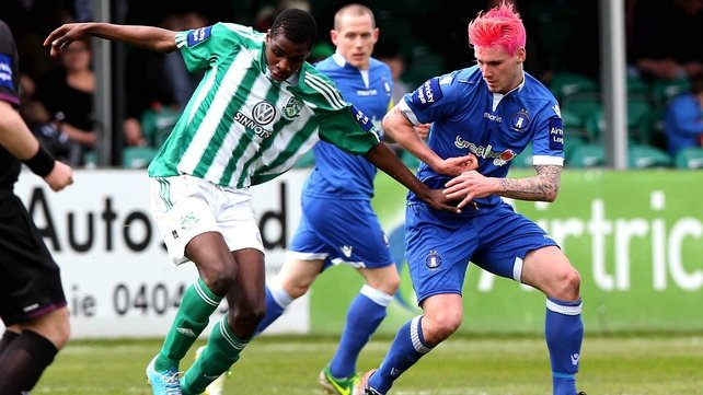 Ismahil Akinade was on the mark twice for Bray in this absorbing clash