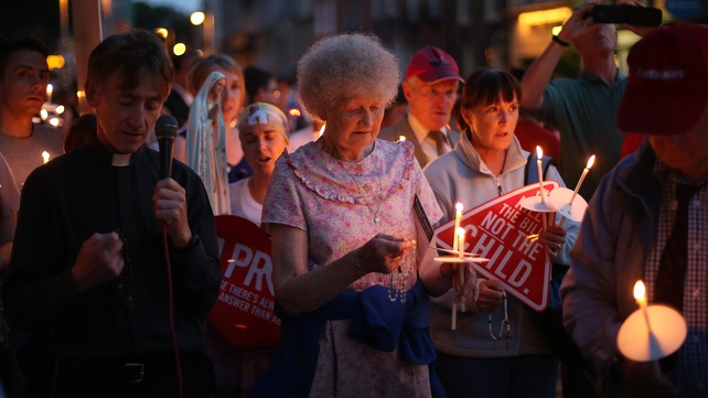 Protesters held an all-night vigil outside Leinster House