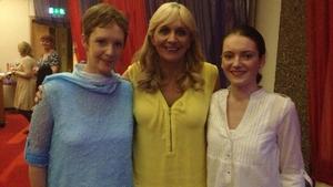 Miriam O'Callaghan with Jordan Egan and her mum Karen
