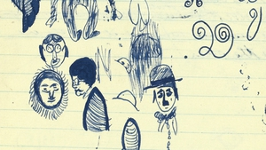 The Beckett notebooks include a doodle of Charlie Chaplin