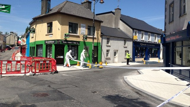 The garda forensic team is at the scene