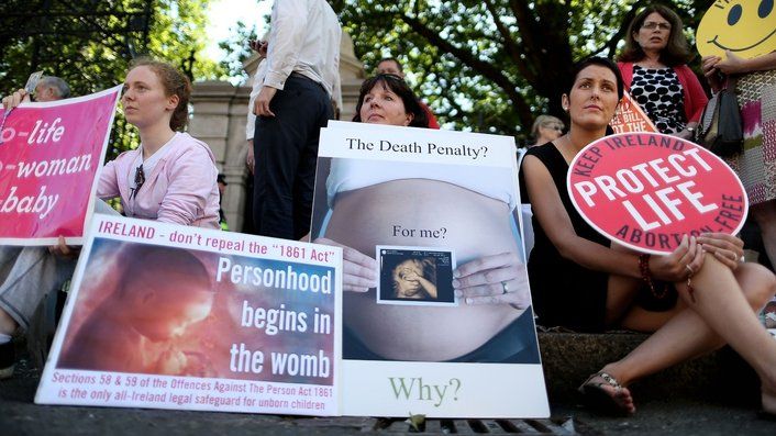 Demonstrators Rally Ahead of The Protection of Life During Pregnancy Bill
