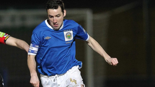 Michael Gault opened the scoring for Linfield