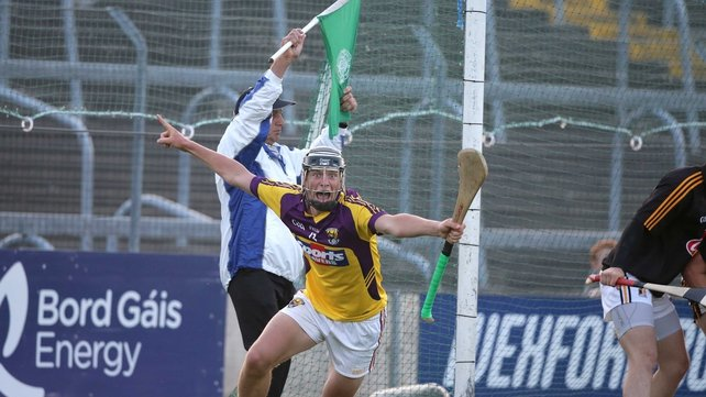 Conor McDonald celebrates the late goal that won the game for Wexford