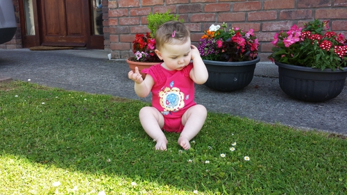 Hey, where did the sun go? Freya Grennan enjoying the rays in Tullamore, Co Offaly. Photo by Caren Grennan