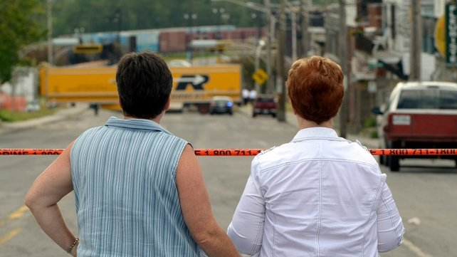 Lac-Megantic residents wait to be allowed to return to their homes and businesses