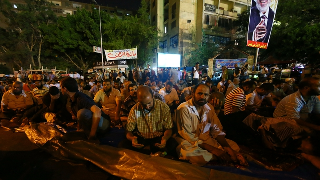 Supporters of Mohammed Mursi stage a protest in Cairo