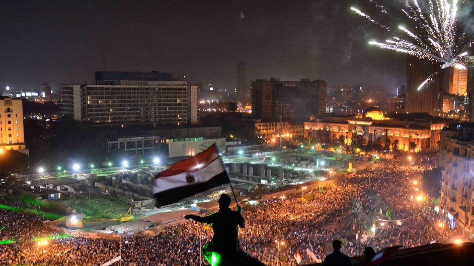 Thousands flood Egypt's Tahrir Square to demonstrate against ousted President Mohammed Mursi