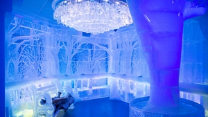The interior of the newly opened Minus5 Ice Bar in New York City