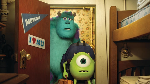 Mike and Sulley get acquainted with college