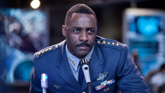 Idris Elba plays Stacker Pentecost, a Colonel with a Churchillian air