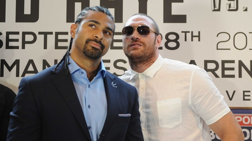 Tyson Fury seemed to rile David Haye at today's press conference