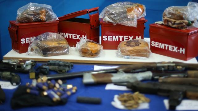 15kg of semtex explosive was found