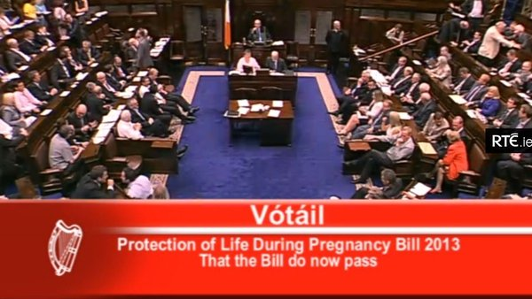 TDs voted by 127 to 31 in favour of the Protection of Life During Pregnancy Bill