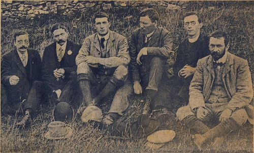 Walter with others at Tara