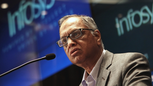 First Infosys earnings report since firm brought back co-founder NR Narayana Murthy as executive chairman.