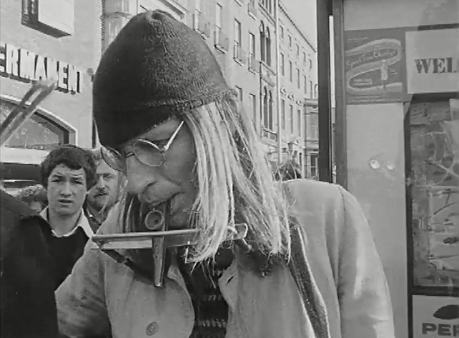 Busker on Grafton Street, Dublin 1974