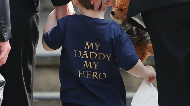 Two-year-old Jack wore a t-shirt with a special message for his daddy