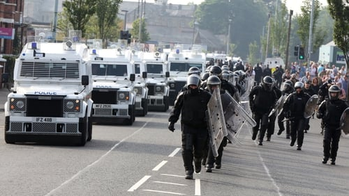 Serious rioting broke out after the Orange Order was prevented from parading in the Ardoyne area