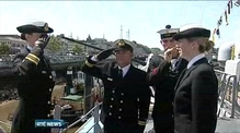 Handover of command between two female captains