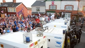 Police were enforcing a ruling from the Parades Commission