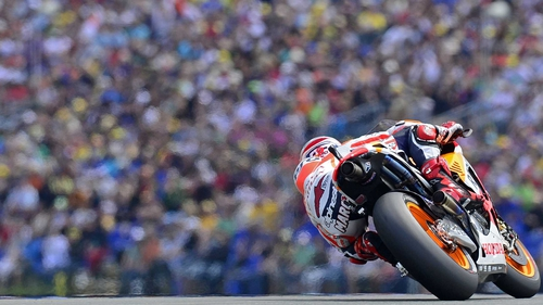 Marc Marquez claimed his third MotoGP pole