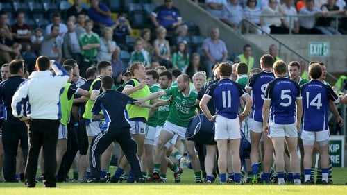 Three red cards and 12 yellows were handed out in the Cavan v Fermanagh game