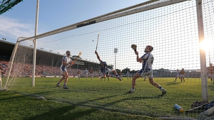 Richie Power scores a penalty for Kilkenny against Waterford