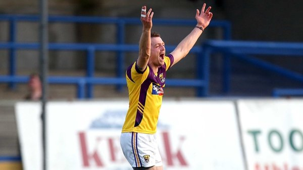 Wexford's Adrian Flynn celebrates a late score