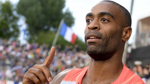 Tyson Gay is the US 100 metres record holder