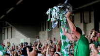 Watch Limerick captain Donal O'Grady lift the Munster cup.