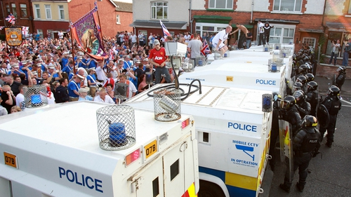 689 PSNI officers have been injured since July last year