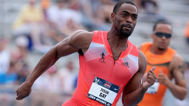 Tyson Gay has failed a doping test
