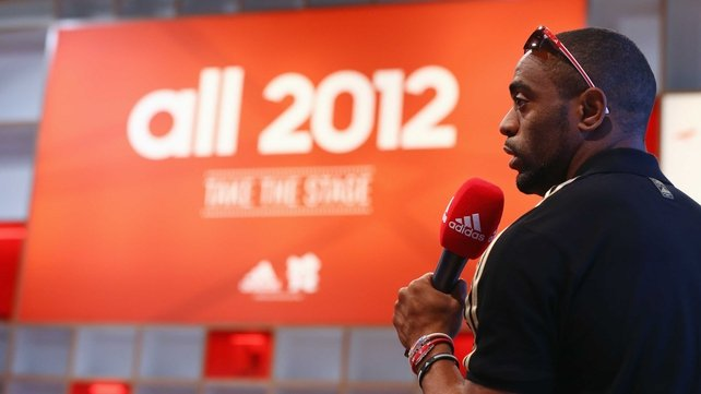Tyson Gay pictured at the adidas Olympic Media Lounge during London 2012