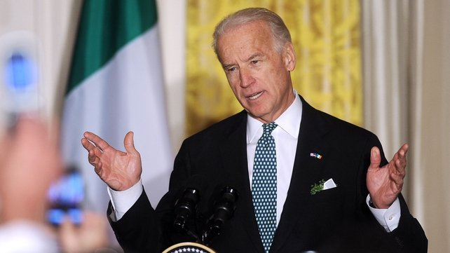US Vice President Joe Biden has called for calm following riots in Belfast