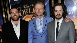 (l to r) Nick Frost, Simon Pegg, Edgar Wright
