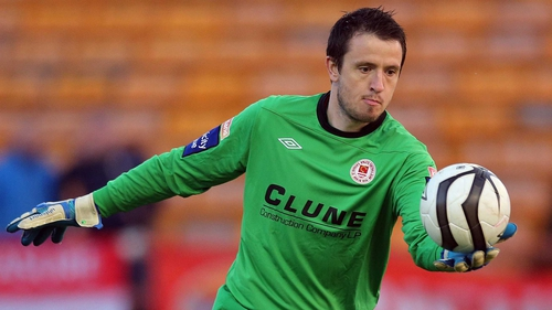 Brendan Clarke kept a clean sheet against Bray
