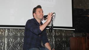 Shane Filan at the playback of his solo album in Dublin's Odessa Club this afternoon. Photo credit: Monika Karaliunaite
