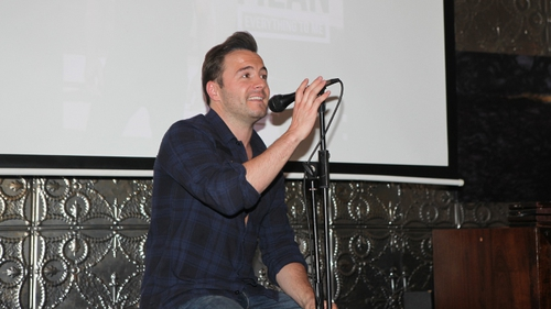 Shane Filan at the playback of his solo album in Dublin's Odessa Club this afternoon. Photo credit: Monika Karaliunaite